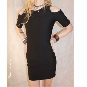 One clothing Black Lined Career Fit Zipper Dress